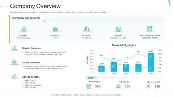 Stock Offering As An Exit Alternative Company Overview Ppt Summary Visual Aids PDF