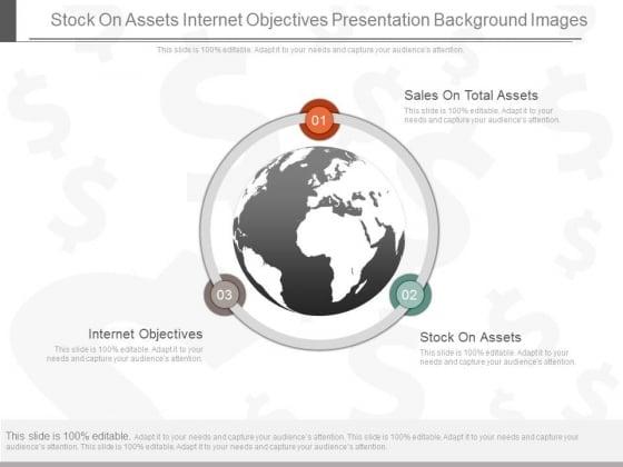 Stock On Assets Internet Objectives Presentation Background Images