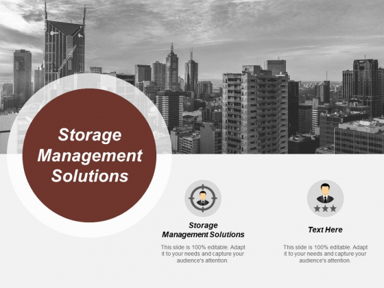 Storage Management Solutions Ppt PowerPoint Presentation Infographic Template Portrait Cpb
