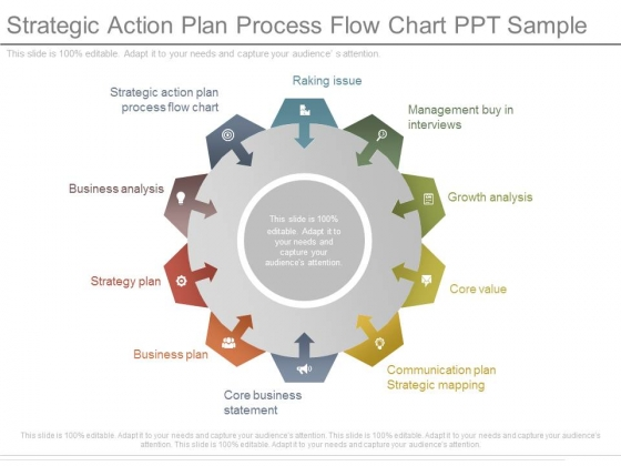Strategic Action Plan Process Flow Chart Ppt Sample  Powerpoint