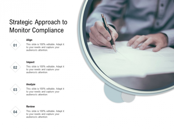 Strategic Approach To Monitor Compliance Ppt PowerPoint Presentation File Formats PDF