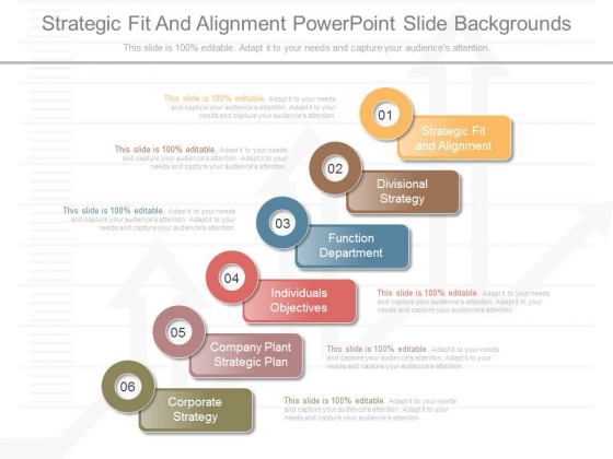 Strategic Fit And Alignment Powerpoint Slide Backgrounds