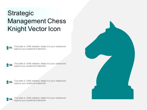 Strategic Management Chess Knight Vector Icon Ppt Powerpoint Presentation Styles Portrait