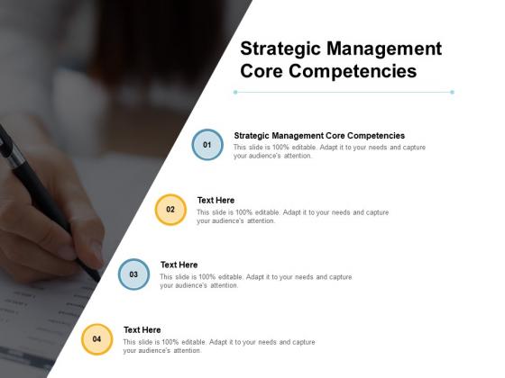 Strategic Management Core Competencies Ppt PowerPoint Presentation Ideas Templates Cpb