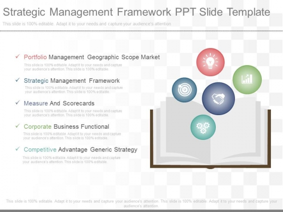 Strategic Management Framework Ppt Slide Template