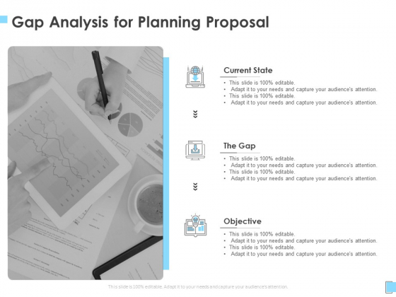 Strategic Management Gap Analysis For Planning Proposal Ppt Icon Example PDF