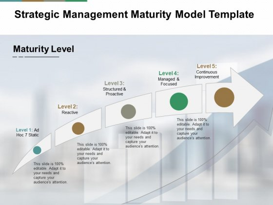 Strategic Management Maturity Model Template Ppt PowerPoint Presentation Infographic Template Guidelines