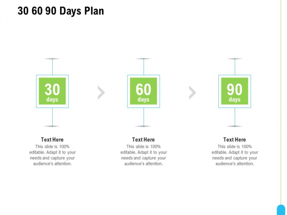 Strategic Marketing Approach 30 60 90 Days Plan Ppt Layouts Slideshow PDF