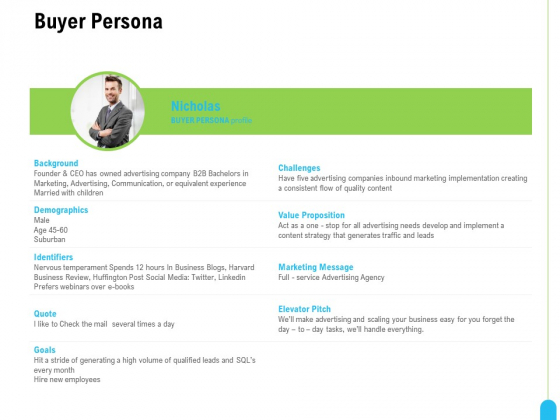 Strategic Marketing Approach Buyer Persona Ppt Ideas Picture PDF