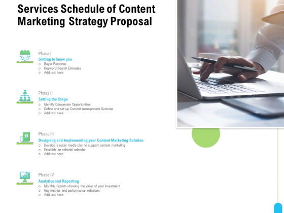 Strategic Marketing Approach Services Schedule Of Content Marketing Strategy Proposal Elements PDF