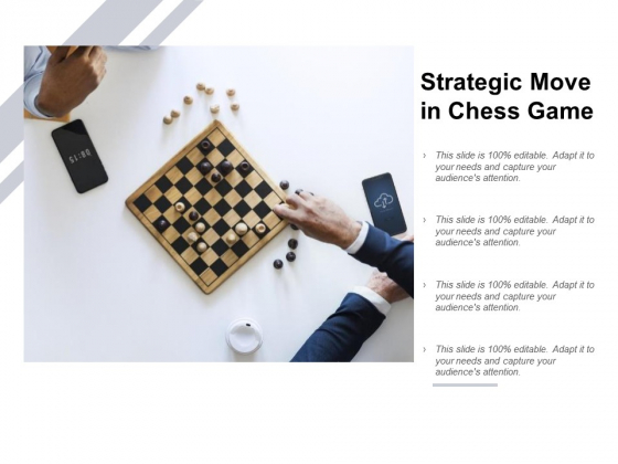 Strategic Move In Chess Game Ppt PowerPoint Presentation Inspiration Introduction