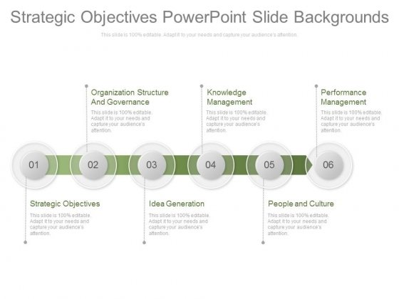 Strategic Objectives Powerpoint Slide Backgrounds