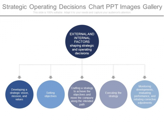 Strategic Operating Decisions Chart Ppt Images Gallery