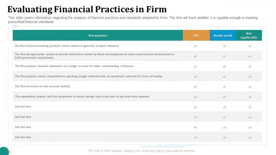 Strategic Plan For Corporate Recovery Evaluating Financial Practices In Firm Formats PDF