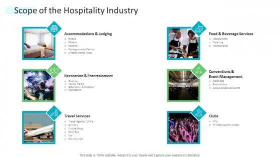 Strategic Plan Of Hospital Industry Scope Of The Hospitality Industry Portrait PDF