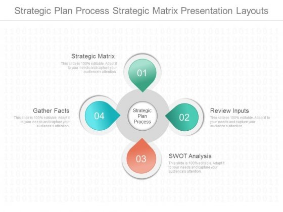 Strategic Plan Process Strategic Matrix Presentation Layouts