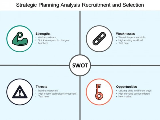 Strategic Planning Analysis Recruitment And Selection Ppt Powerpoint Presentation Infographic Template Templates