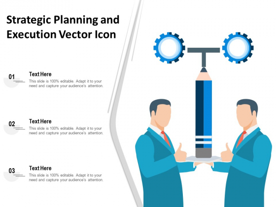 Strategic Planning And Execution Vector Icon Ppt PowerPoint Presentation Gallery Vector PDF