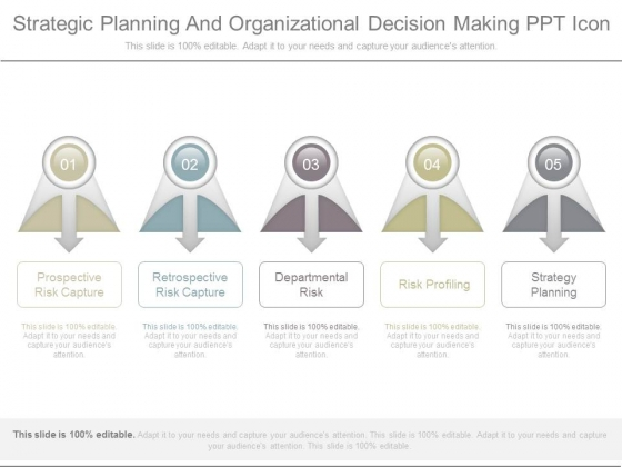Strategic Planning And Organizational Decision Making Ppt Icon