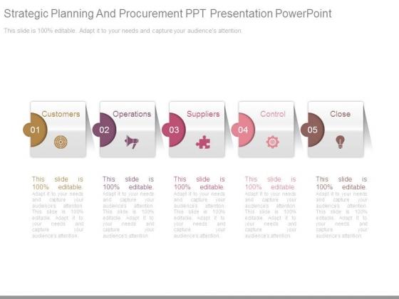 Strategic Planning And Procurement Ppt Presentation Powerpoint