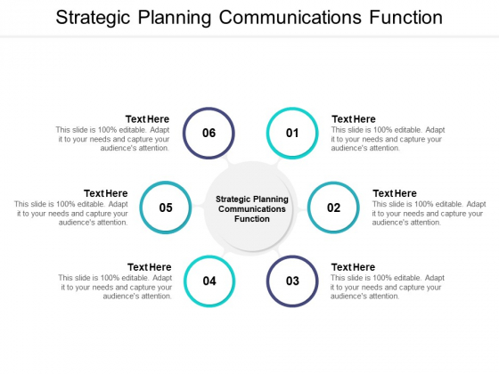 Strategic Planning Communications Function Ppt PowerPoint Presentation Inspiration Template Cpb