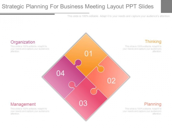 Strategic Planning For Business Meeting Layout Ppt Slides
