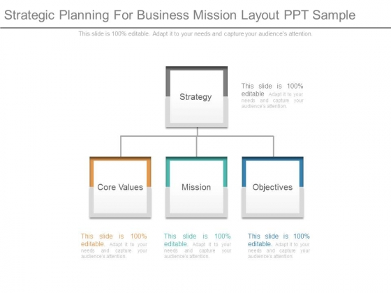 Strategic Planning For Business Mission Layout Ppt Sample