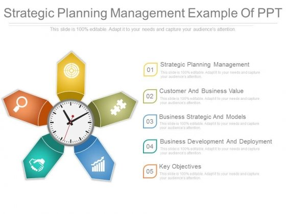Strategic Planning Management Example Of Ppt