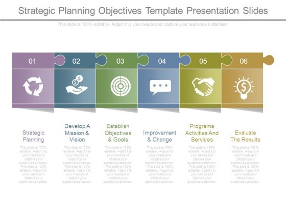 Strategic Planning Objectives Template Presentation Slides