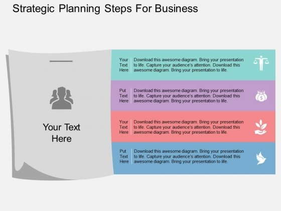 Strategic Planning Steps For Business Powerpoint Template
