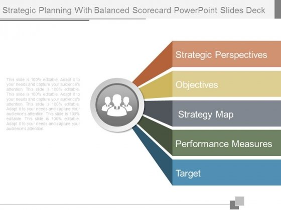 Strategic Planning With Balanced Scorecard Powerpoint Slides Deck