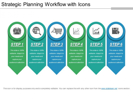 Strategic Planning Workflow With Icons Ppt PowerPoint Presentation Infographics Graphics