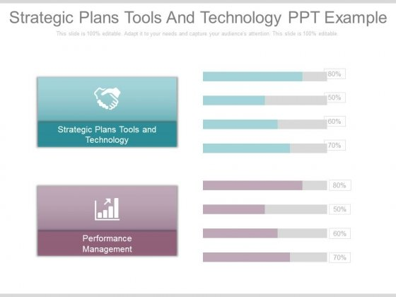 Strategic Plans Tools And Technology Ppt Example
