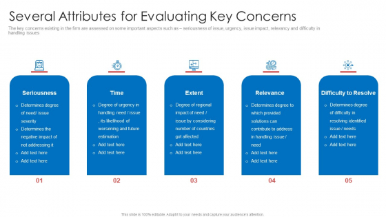 Strategic Prioritization Company Projects Several Attributes For Evaluating Key Concerns Guidelines PDF