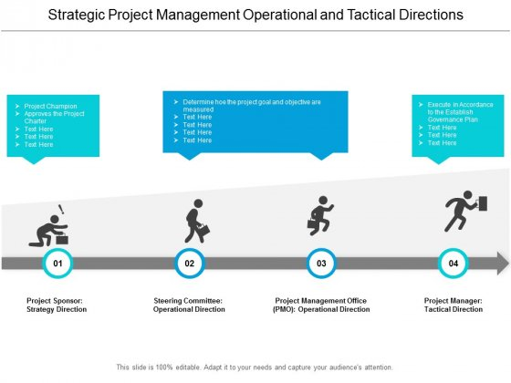 Strategic Project Management Operational And Tactical Directions Ppt Powerpoint Presentation Styles Portfolio