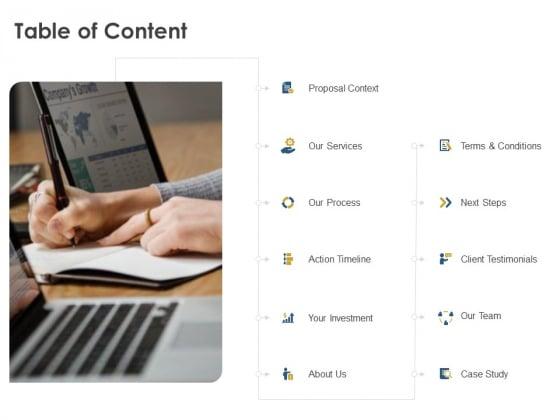 Strategic SEO Audit Table Of Content Slides PDF