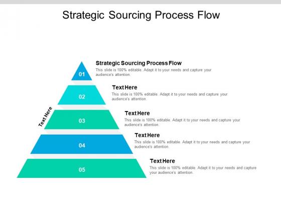 Strategic Sourcing Process Flow Ppt PowerPoint Presentation Inspiration Background Designs Cpb