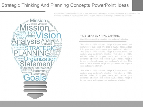 Strategic Thinking And Planning Concepts Powerpoint Ideas