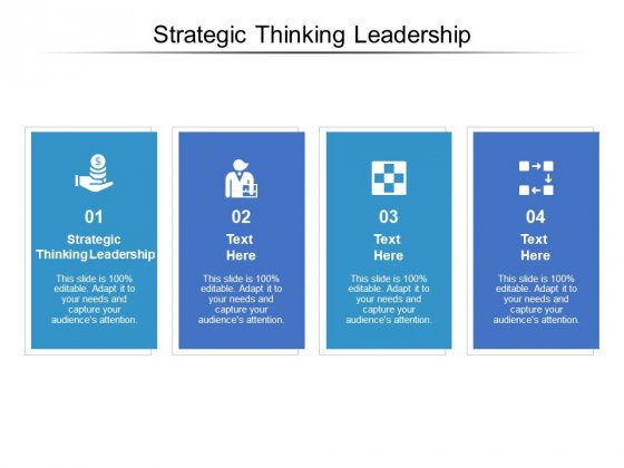 Strategic Thinking Leadership Ppt PowerPoint Presentation Clipart Cpb