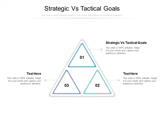 Strategic Vs Tactical Goals Ppt PowerPoint Presentation Outline Brochure Cpb