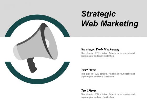 Strategic Web Marketing Ppt PowerPoint Presentation Slides Example Topics Cpb