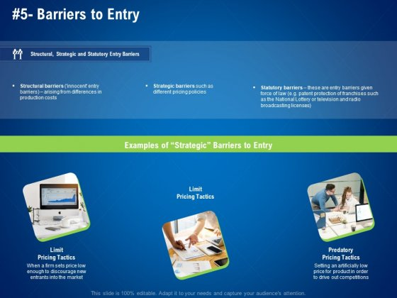strategies distinguish nearest business rivals barriers to entry tactics ppt file demonstration pdf