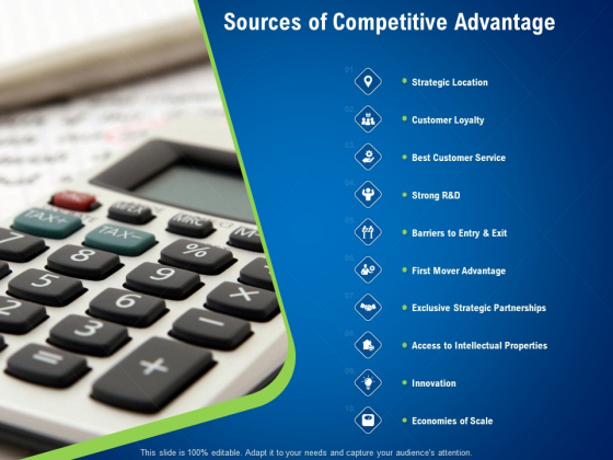 Strategies Distinguish Nearest Business Rivals Sources Of Competitive Advantage Ppt Inspiration Display PDF