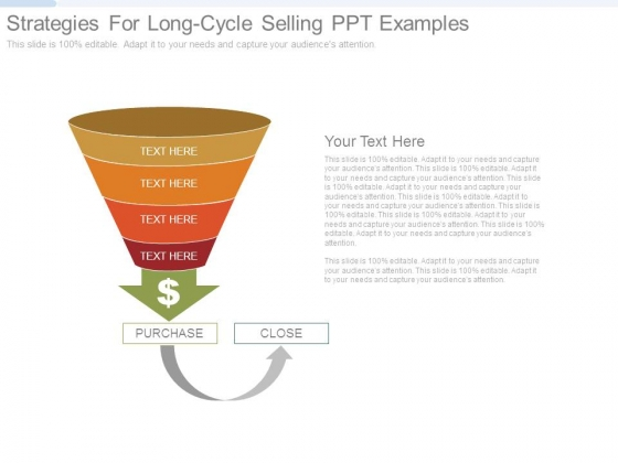 Strategies For Long Cycle Selling Ppt Examples
