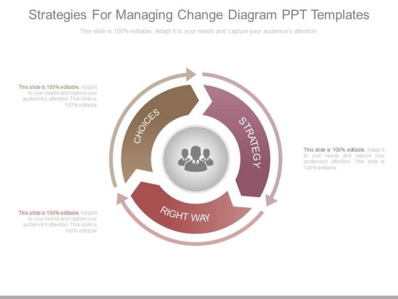Strategies For Managing Change Diagram Ppt Templates