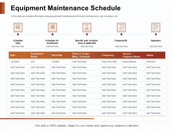 Strategies_For_Organizing_Events_Equipment_Maintenance_Schedule_Ppt_PowerPoint_Presentation_Infographics_Graphics_PDF_Slide_1