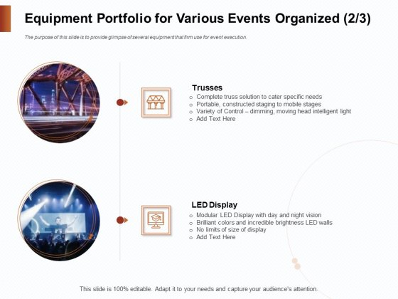 Strategies_For_Organizing_Events_Equipment_Portfolio_For_Various_Events_Organized_Control_Ppt_Styles_Visuals_PDF_Slide_1