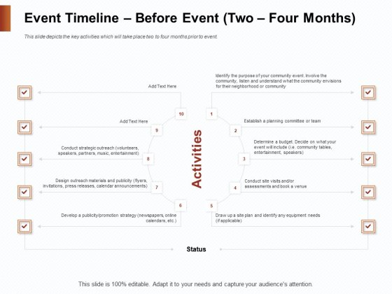 Strategies_For_Organizing_Events_Event_Timeline_Before_Event_Two_Four_Months_Ppt_File_Gridlines_PDF_Slide_1
