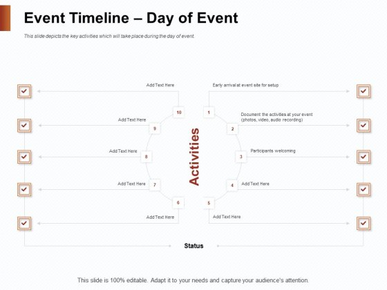 Strategies_For_Organizing_Events_Event_Timeline_Day_Of_Event_Ppt_Inspiration_Outline_PDF_Slide_1