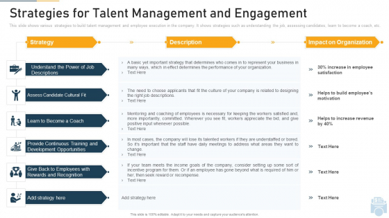 Strategies For Talent Management And Engagement Ppt Icon Master Slide PDF